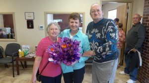 New Customers will miss Janet; Julia Wise , Janet and Wayne Crawford.