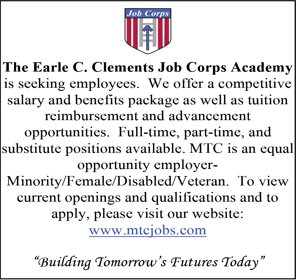 Full Part And Substitute Time Positions Available Earl C Clements